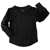 Little Bipsy Collection Long Sleeve Pocket Tee - Black