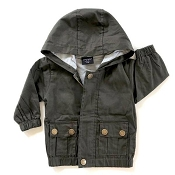 Little Bipsy Collection Lightweight Military Jacket (Size 0-6 Months)