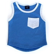 Little Bipsy Collection Pocket Tank - Blue