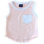 Little Bipsy Collection Pocket Tank - Blush