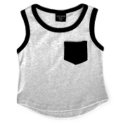 Little Bipsy Collection Pocket Tank - Grey