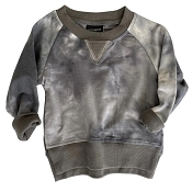 Little Bipsy Pullover - Charcoal Tie Dye
