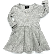 Little Bipsy Collection Ribbed Dress - Grey