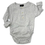 Little Bipsy Collection Ribbed One-Piece - Grey