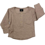 Little Bipsy Collection Ribbed Top - Taupe *CLEARANCE*