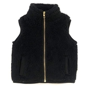 Little Bipsy Collection Sherpa Vest - Black