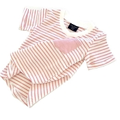 Little Bipsy Collection Blush Stripe Swoop Tee (Size 0-6 Months)