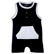 Little Bipsy Collection Shorty Romper - Black