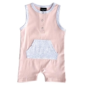 Little Bipsy Collection Shorty Romper - Blush