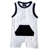 Little Bipsy Collection Shorty Romper - Grey