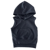 Little Bipsy Collection Sleeveless Hoodie - Black