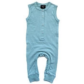 Little Bipsy Sleeveless Snap Romper - Ash Blue