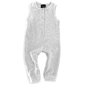 Little Bipsy Collection Sleeveless Snap Romper - Heather Grey