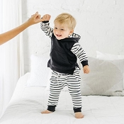Little Bipsy Collection Stripe Hoodie - Black