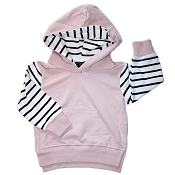 Little Bipsy Collection Stripe Hoodie - Blush