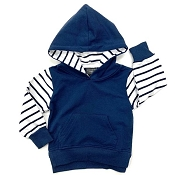 Little Bipsy Collection Stripe Hoodie - Navy