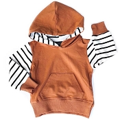 Little Bipsy Collection Stripe Hoodie - Rust