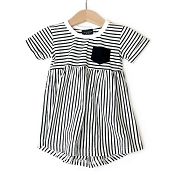 Little Bipsy Collection Stripe Swoop Dress - Black