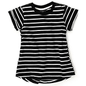 Little Bipsy Girl Swoop Dress - Black Stripes