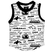 Little Bipsy Graphic Tank - Grey PNW
