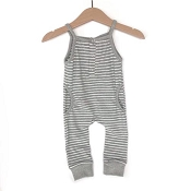 Little Bipsy Collection Tank Stripe Romper - Black