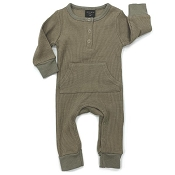 Little Bipsy Collection Thermal Romper - Moss *CLEARANCE*