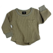 Little Bipsy Collection Thermal Top - Moss *CLEARANCE*