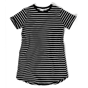 *Little Bipsy Women's Swoop Dress - Black Stripes