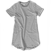 *Little Bipsy Women's Swoop Dress - Grey Stripes