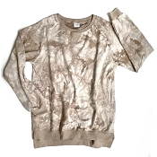 *Little Bipsy Women's Pullover - Taupe Tie Dye (Size Medium)