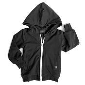 Little Bipsy Zip Hoodie - Black