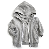 Little Bipsy Zip Hoodie - Grey *CLEARANCE*