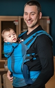 * LennyLamb Ergonomic Wrap Conversion Carrier - Toddler - Ocean Depth *CLEARANCE*