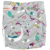 Lil Helper Charcoal One-Size Cloth Diaper