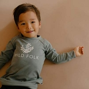 Little & Lively Wild Folk Pullover - Blue Spruce