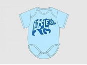 Itty Bitty Baby Little Brother Bear Blue Onesie