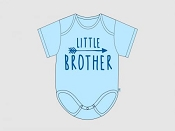Itty Bitty Baby Little Brother Arrow Onesie *CLEARANCE*