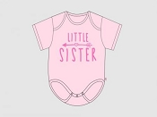 Itty Bitty Baby Little Sister Arrow Onesie