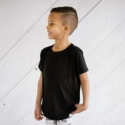 Little & Lively Black Bamboo/Cotton T-Shirt (Size 3T-4T)