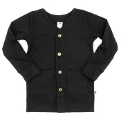 Little & Lively Bamboo/Cotton Cardigan - Black
