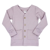 Little & Lively Bamboo/Cotton Cardigan - Mauve