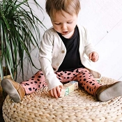 Little & Lively Leggings - Clay Dot