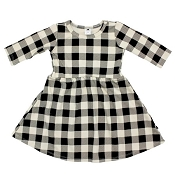 Little & Lively Clementine Dress - Buffalo Plaid on Beige