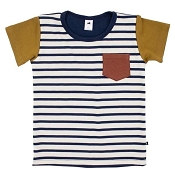 Little & Lively Bamboo/Cotton T-Shirt - Primary Stripe