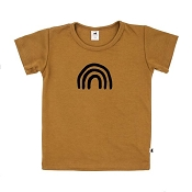 Little & Lively Bamboo/Cotton T-Shirt - Rainbow Umber