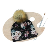 Little & Lively Pom Pom Beanie - Watercolour Floral