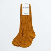 Little Stocking Co. Cable Knit Knee High Socks - Butterscotch