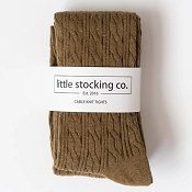 Little Stocking Co. Cable Knit Tights - Olive