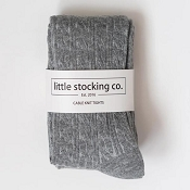Little Stocking Co. Cable Knit Tights - Grey
