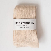 Little Stocking Co. Cable Knit Tights - Vanilla Cream